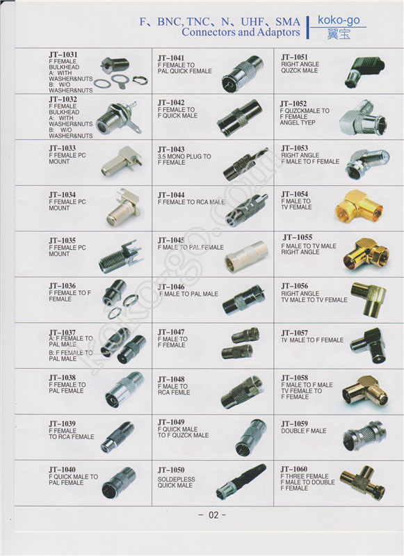 2--F,BNC,TNC,N,UHF,SMA connectors and adapters