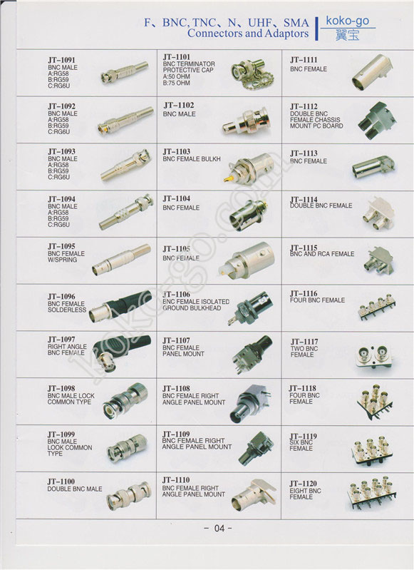 4--F,BNC,TNC,N,UHF,SMA connectors and adapters