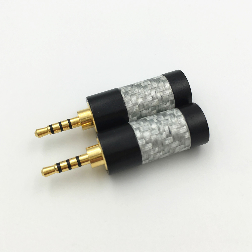 Carbon Fiber Shell 2.5mm 4Pole Audio Male Plug Sol