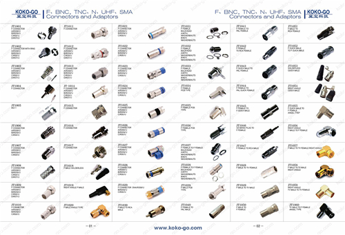 1--F,BNC,TNC,N,UHF,SMA connectors and adapters