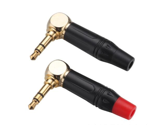 3.5mm stereo male right angle plug