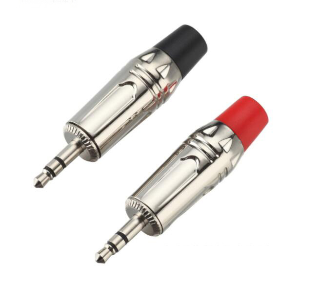 Nickel plated 3.5mm stereo male plug
