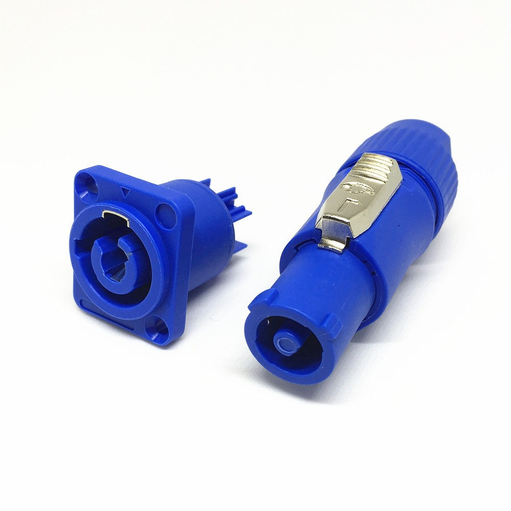 3 Pin Blue Neutrik Chassis Plug Panel Adapter
