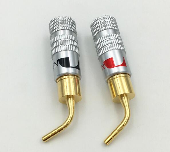 24K Gold Nakamichi Speaker Pin 2mm Banana Plugs