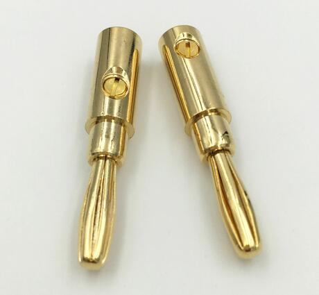 Brass Metal Gilded 4mm Bullet Banana Plug
