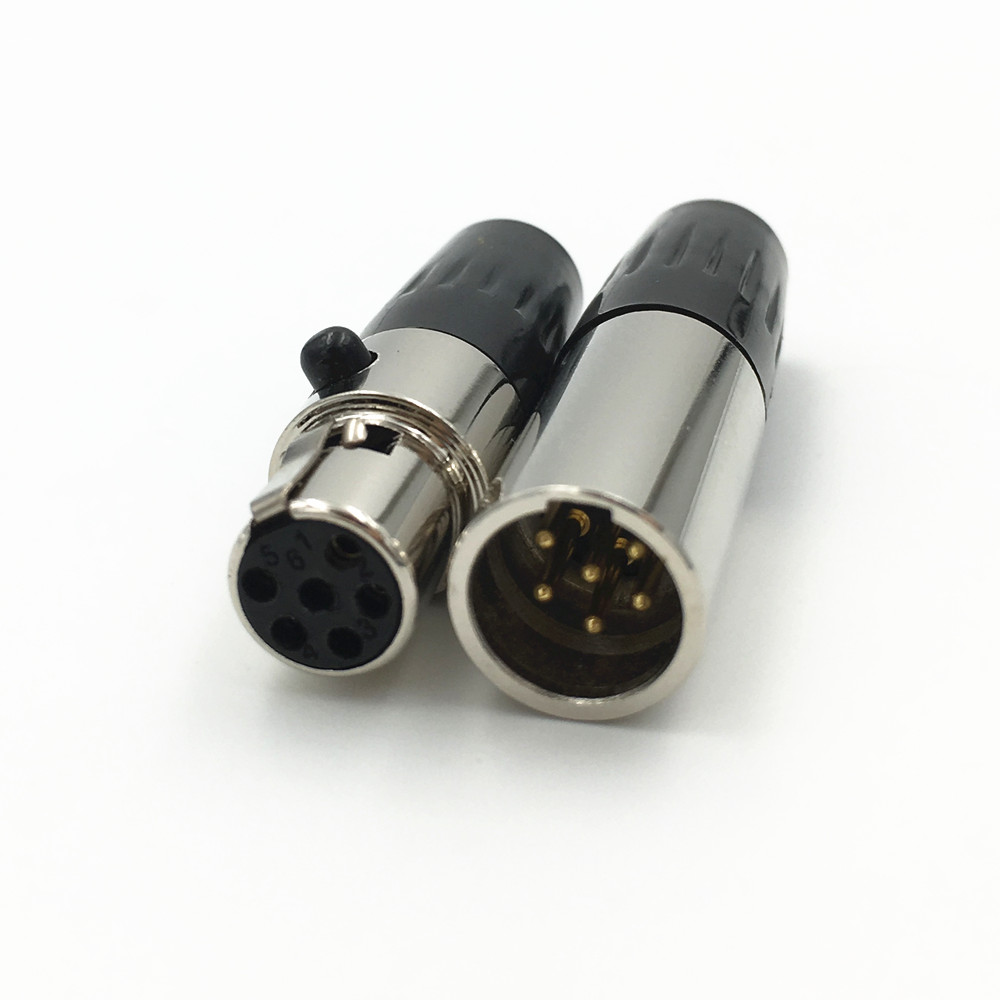 High Quality Mini XLR 6Pin male +Female Plug