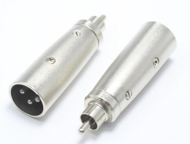 RCA Female jack to XLR 3Pin Male Plug