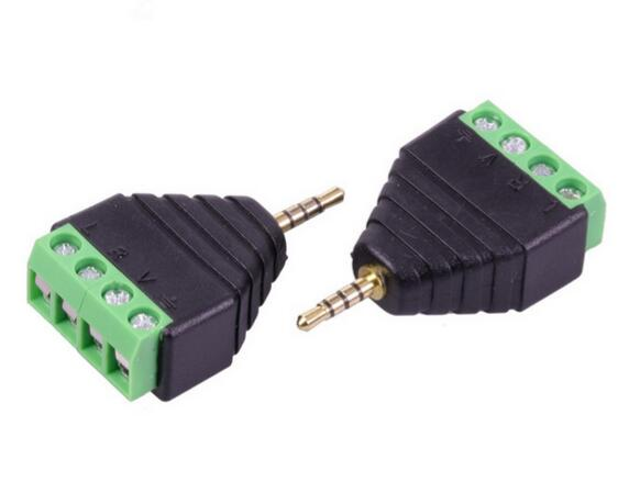 2.5mm 4 Pole Stereo Male to AV Screw Terminal