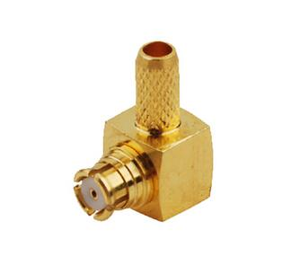 SMP Crimp Jack Female Right Angle Connector