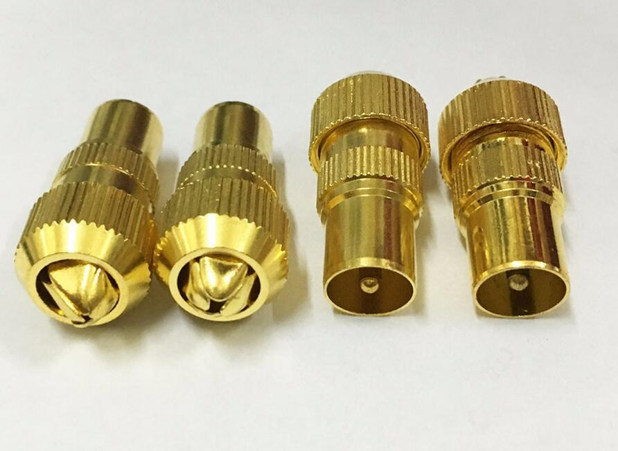 Gold Plated TV Male Aerial Connector