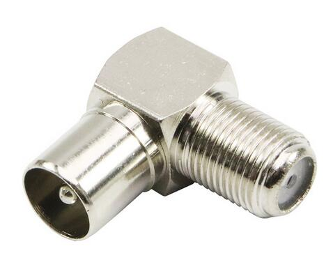 F Female Jack to IEC PAL DVB-T TV Male Plug Pin