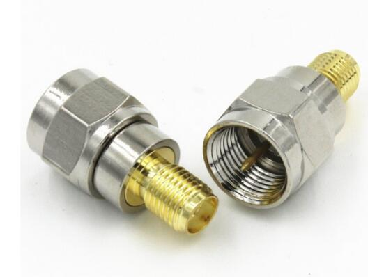 COPPER F Type male plug to SMA female Plug Straigh