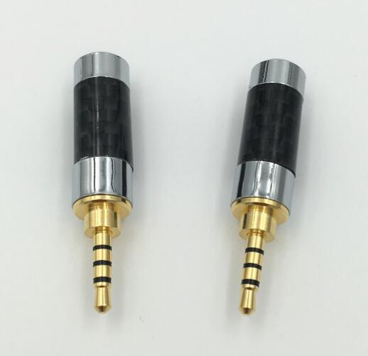 Gold Plated 4 Pole 2.5mm Stereo Audio Jack Plug