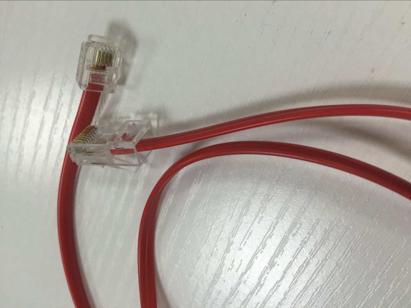 RJ11 4pin to RJ45 8pin with Red flat cable