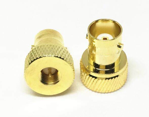 Gold Plated Brass SMA Male to BNC Female Connecto